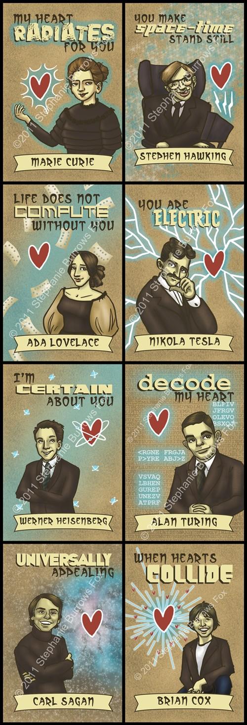 Karten zum Valentinstag – für Wissenschaftler