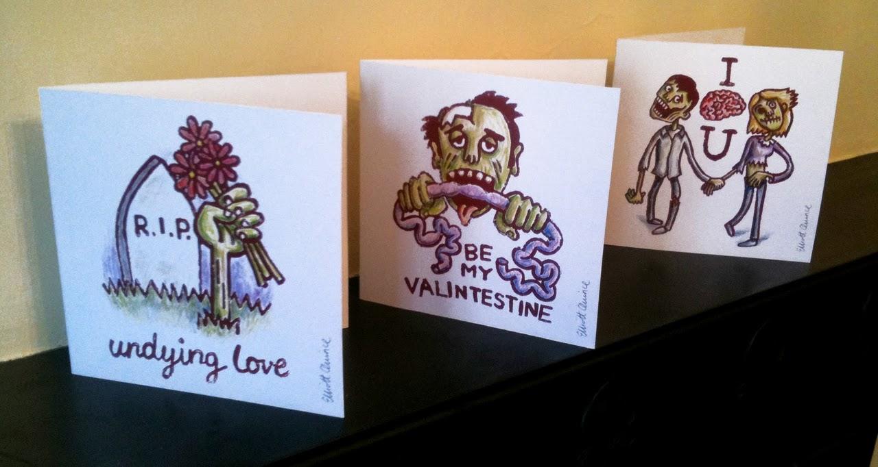 Karten zum Valentinstag – für Zombie-Liebhaber
