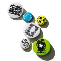 Anstecker-Set Buttons (Greenpeace-Magazin Warenhaus)