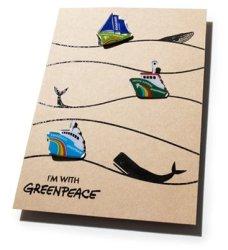 Anstecker-Set Schiffe (Greenpeace-Magazin Warenhaus)