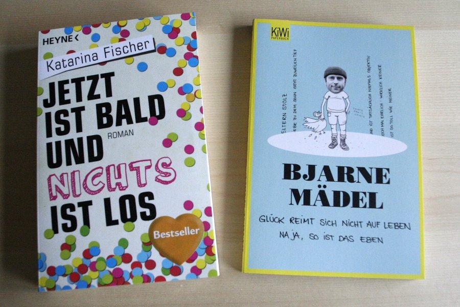 """Büchercover: """"Jetzt ist bald und nichts ist los"""" von Katarina Fischer, """"Glück reimt sich nicht auf Leben. Naja, so ist das eben."""" (Bjarne Mädel)"""