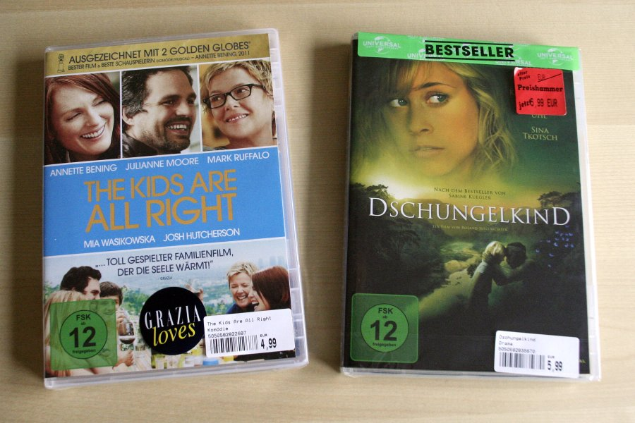 "DVD-Cover: ""The Kids Are All Right"", ""Dschungelkind"""