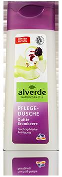 """Produktpackung """"alverde Pflege-Dusche Quitte Brombeere (Limited Edition)"""""""