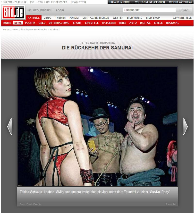 BILD online Bildschirmfoto vom 11. März 2012