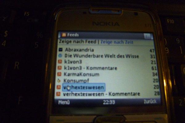 RSS-Feedreader auf meinem Mobilfon