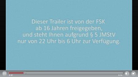 Text-Hinweis im Videoplayer auf kino.de