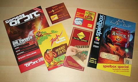 Spielbox Special, Games Orbit, Zock Neuheiten, Quattrino