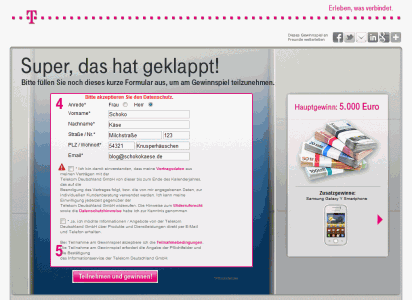 Screenshot von telekom.de