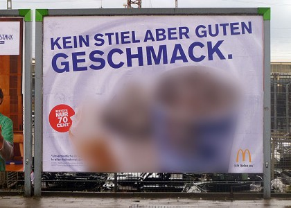 """""""Kein Stiel aber guten Geschmack. McDonald's"""""""