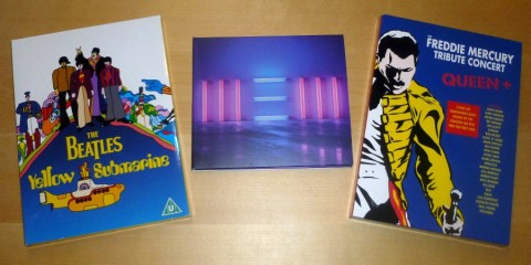 The Beatles: Yellow Submarine (DVD), Paul McCartney: New (CD, Deluxe Version), Queen: The Freddie Mercury Tribute Concert (3 DVDs)