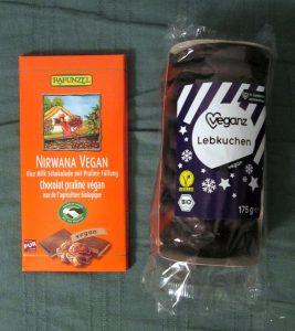 Rapunzel Nugal Schokolade, Veganz Lebkuchen