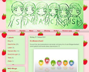 SNACKS-Clique (Archiv-Screenshot)