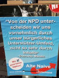 Alte Naive für Deutschland Wahlplakat