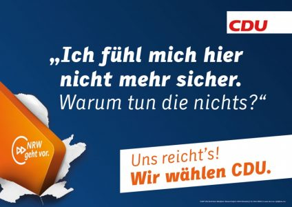 Landtagswahl NRW 2017: CDU-Protestplakat