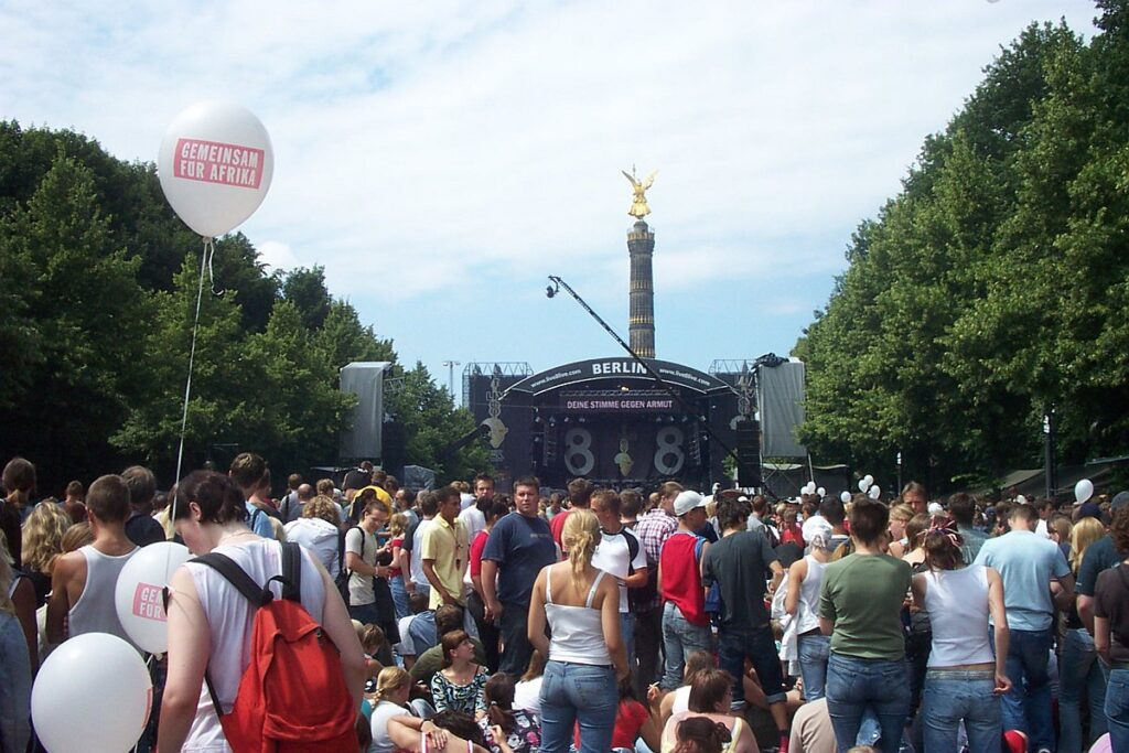 """Live 8"" 2005 in Berlin - noch Platz vor Beginn"
