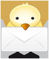 Vogel mit Brief (© IconDock.com)