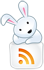 Hase mit RSS-Icon (© IconDock.com)
